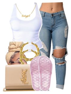 """""""1079"""" by tuhlayjuh ❤ liked on Polyvore featuring Fergie, Yves Saint Laurent and Puma"""