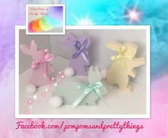 💟🐰Freestanding Wooden Bunny in pastel shades with matching satin ribbon and PomPom Tail🐰💟xxx Perfect for a Baby Shower gift, new born baby, nursery, bedroom, Easter Height approx Easter Presents, Farm Crafts, Etsy Business, Etsy Crafts, Gifts For Mum, Ribbon Bows, Etsy Jewelry, Etsy Handmade, Baby Shower Gifts