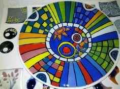 vitrofusion - Buscar con Google Mosaic Art, Mosaics, Beach Mat, Outdoor Blanket, Plates, Circles, Bowls, Google, Fused Glass