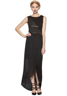 COLLETTE MAXI CROSS OVER FRONT DRESS   Alice + Olivia  