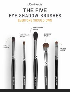 5 Essential Eyeshadow Brushes - Eye Makeup Tips - - - 5 Essential Eyeshadow Brushes – Eye Makeup Tips – New makeup! 5 Essential Eyeshadow Brushes – Eye Makeup Tips -Glo Skin Beauty UK How To Wash Makeup Brushes, Affordable Makeup Brushes, Best Makeup Brushes, Eye Brushes, Eyeshadow Brushes, Makeup Eyeshadow, Best Makeup Products, Eyeshadow Tips, Blue Eyeshadow