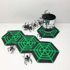 Halloween coasters hama beads by tcashop