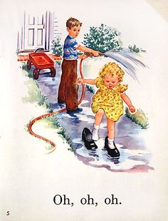 Image result for dick and jane with policeman 1950s