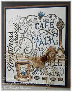 Coffee Talk Background - Heartfelt Creations by Kathy Roney - Using the new Coffee Talk Collection