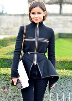 Miroslava Duma - structured jacket.  I'd love add details of this into one of my designs!  Love the hemline!
