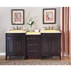 accord antique 72 inch double sink bathroom vanity eellow onyx countertop - 72 Inch Bathroom Vanity Double Sink