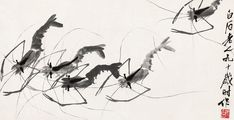 Qi Baishi (1864-1957)  Replica, ink and color on paper, 15 x 30 cm