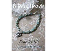 Daisy Aqua Bracelet Jewellery Kit Jewelry Kits, Jewelry Bracelets, Jewellery Making, Turquoise Necklace, Daisy, Aqua, Beads, Inspiration, Jewelry