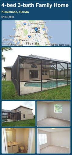 4-bed 3-bath Family Home in Kissimmee, Florida ►$169,900 #PropertyForSale #RealEstate #Florida http://florida-magic.com/properties/16461-family-home-for-sale-in-kissimmee-florida-with-4-bedroom-3-bathroom