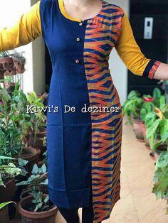 Salwar Neck Designs, Churidar Designs, Kurti Patterns, Dress Patterns, New Kurti, Punjabi Dress, Edwardian Dress, Blouse Models, Indian Designer Wear