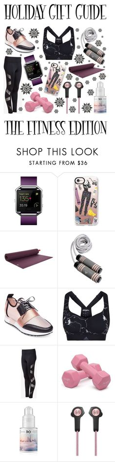 """""""Holiday Gift Guide: The Fitness Edition"""" by latoyacl ❤ liked on Polyvore featuring Fitbit, Casetify, Steve Madden, adidas, Express, R+Co and Bang & Olufsen"""