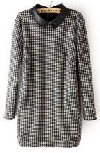 Black Long Sleeve Plaid Back Zipper Sweater $33.55