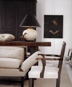 I love black, whites and dark stained wood. So effortless and classic. - Lindsay Leggett /\ /\ . Darryl Carter