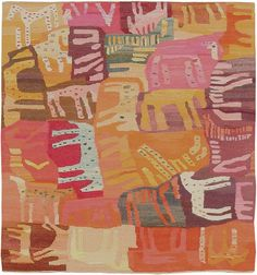 This phenomenal Swedish Textile Art Rug 47291 was handmade circa You can view the piece at Nazmiyal Collection's gallery in New York. Textiles, Textile Fiber Art, Naive Art, Tapestry Weaving, Woven Rug, Rug Hooking, Textures Patterns, Textile Design, Rugs On Carpet
