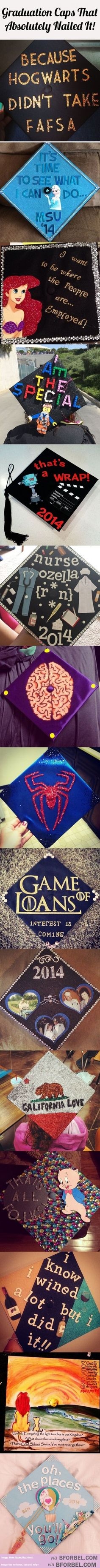15 Awesome Graduation Caps That Just Nail The Graduation Spirit�