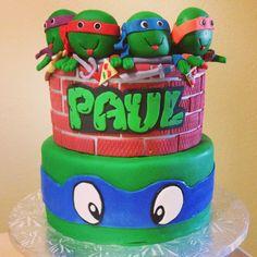 Ninja Turtles Cake.