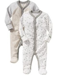 Patterned One-Piece 2-Packs for Baby   Old Navy