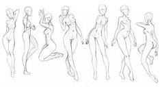 Human Body Drawing, Drawing Body Poses, Body Reference Drawing, Drawing Reference Poses, Female Drawing, Body Sketches, Art Drawings Sketches, Body Drawing Tutorial, Wie Zeichnet Man Manga