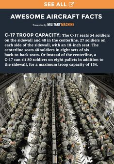 If you love interesting facts about military aircraft then be sure to check out this post covering the most interesting facts about the C-17 Globemaster. This pin's fact covers the cost of a C-17 vs the cost of a C-5 Galaxy. Follow us for more awesome facts like this! #military #militarymachine #c17 #c5 #usaf #aviation #planes #militaryaircraft #interestingfacts #facts
