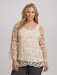 Plus Size | Tops | Shirts & Blouses | Plus Size Crochet Top