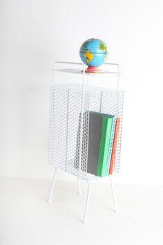 Mid Century Atomic Magazine Rack / Plant Stand by tomvickandteri