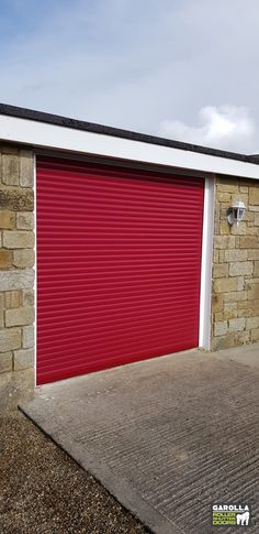 Electric garage doors from Garolla come in over 20 different shades. Roller Doors in red are effortlessly stylish, click the link to see our entire electric roller garage door collection. Red Garage Door, Garage Door Makeover, Roller Doors, Roller Shutters, Red Interior Design, Electric Rollers, Electric Garage Doors, Outdoor Decor, Modern