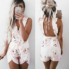 Holly Playsuit | #SaboSkirt  Pretty prints and pretty backs @emilyrosehannon