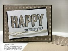 Birthday card using Stampin' Up! Happy Celebrations Stamp Set and Celebrations Duo Textured Impressions Embossing Folder. Details on my blog.