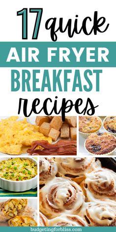 Best Air Fryers, Air Fryer Healthy, Air Fryer Recipes, Budget Meals, Recipe Ideas, Bliss, Breakfast Recipes, Budgeting, Foods