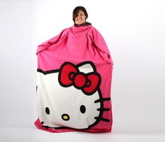 "Hello Kitty Comfy ""Throw"" (Ok, let's be honest with ourselves - it's an off-brand Snuggie). Where The Heart Is, Living Spaces, Hello Kitty, Geek Stuff, Comfy, Future, Face, Gifts, Fashion"
