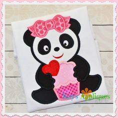 Baby Kay's Appliques - Panda Girl With a Cupcake 4x4, 5x7, 6x10, 8x8, $4.00 (http://www.babykaysappliques.com/panda-girl-with-a-cupcake-4x4-5x7-6x10-8x8/)