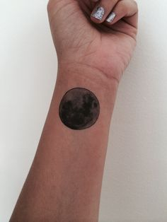 3 Moon Temporary Tattoo / Fake Tattoos / Set of 3 / Moon Tattoo