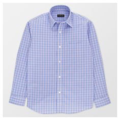 City of London Boys' Button Down Shirt - Blue Plaid - Xxl, Boy's