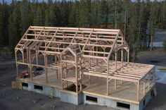 True timber frame homes from Natural Element Homes has a structural timber frame skeleton wrapped with SIP panels for strength and energy efficiency.
