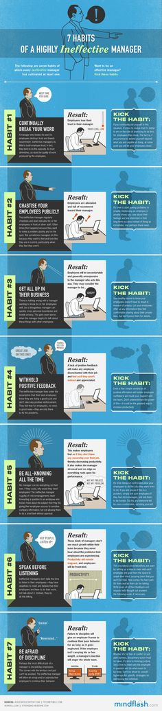 7 Habits of a Highly Ineffective Manager Infographic I wish this wasn't my manager.