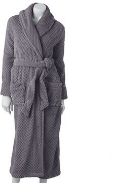 Croft & barrow ® dimpled plush robe on shopstyle.com