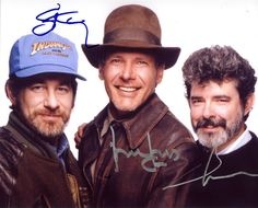 Director Steven Spielberg, Harrison Ford (Indiana Jones), & Producer George Lucas - Indiana Jones and the Last Crusade (1989)