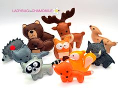 forest animals out of felt