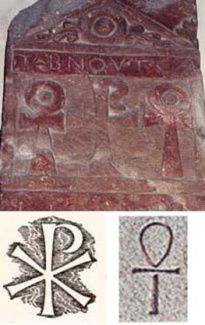 Les reliefs présentent une fusion des cultes funéraires chrétien et égypto-romain d'Isis