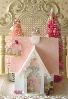 Sweet Pink Bunny Cottage by The Illusive Swan, via Flickr
