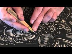 Printmaking Tutorial. Woodcarving with Woodblock Tools. Intaglio Tricks and Techniques Demo - YouTube