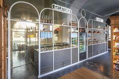 I Dolci Di Nonna Vincenza - Catania - Picture gallery Kiosk Design, Bakery Design, Facade Design, Retail Design, Mexican Restaurant Design, Restaurant Interior Design, Cafe Restaurant, Cafe Bar, Retail Interior