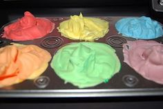 (add a dab of paint to shaving cream) for rainbow painting