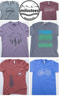 Outdoorsy t-shirts, $21.99 screen printed on buttery soft threads. Free shipping in the USA. Elevate the day!