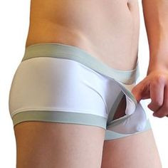 Fashion Inside Hollow Sexy Comfortable Casual Low Waist U Convex Boxer Briefs for Men - NewChic Mobile.