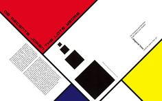 Book layout design inspired by De Stijl movement