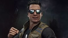 Johnny Cage Appears In Mortal Kombat 11 Johnny Cage, Mirrored Sunglasses, Mens Sunglasses, Mortal Kombat X, Fighting Games, Comedy, Scene, Gaming, Movies
