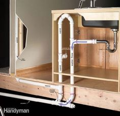 DIY:  How to Install Plumbing in a Kitchen Island - via Family Handyman