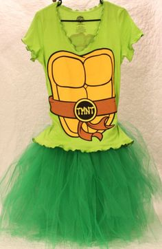 Ninja Turtle Tutu Halloween Costume. Perfect for the headless horseman run with my | http://halloween-costume.kira.lemoncoin.org