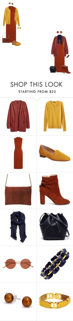 """""""Rust midi dress 2"""" by tracy-gowen ❤ liked on Polyvore featuring Banana Republic, WearAll, Office, Sole Society, MANGO, Lacoste, Oliver Peoples, Bling Jewelry and Hermès"""